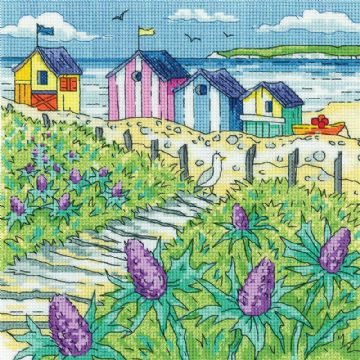 Heritage Crafts Karen Carter Collection Cross Stitch Kit - Sea Holly Shore